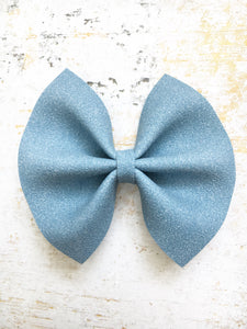 Aspen - Light Blue suede bow
