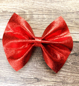 Candy - Red foil felt bow
