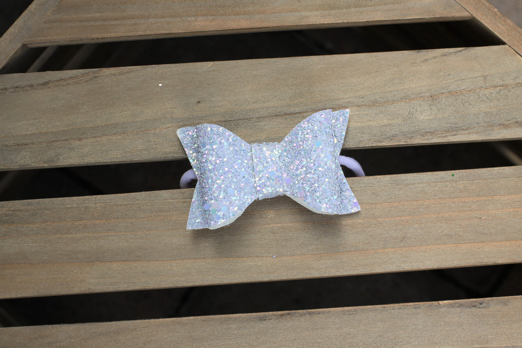 Fog Shimmer - Gray glitter headband, lavender nylon headband, baby shower gift, baby gift, baby accessories, toddler accessories
