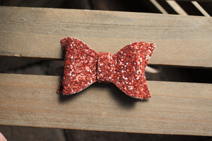 Harvest Spice Glitter boxy bow - boxy glitter bow, tan nylon headband, baby shower gift, baby gift, baby girl shower gift, baby accessories, toddler accessories