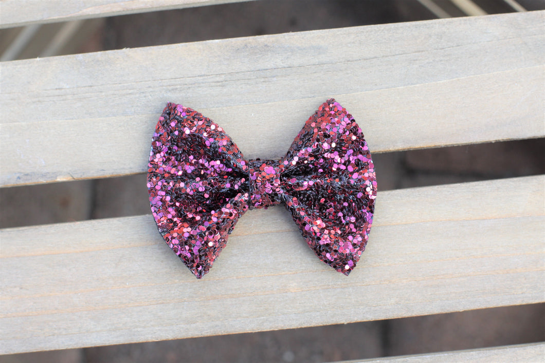 Adelaide - burgundy glitter bow, baby girl shower, baby shower gift, baby accessories, toddler accessories