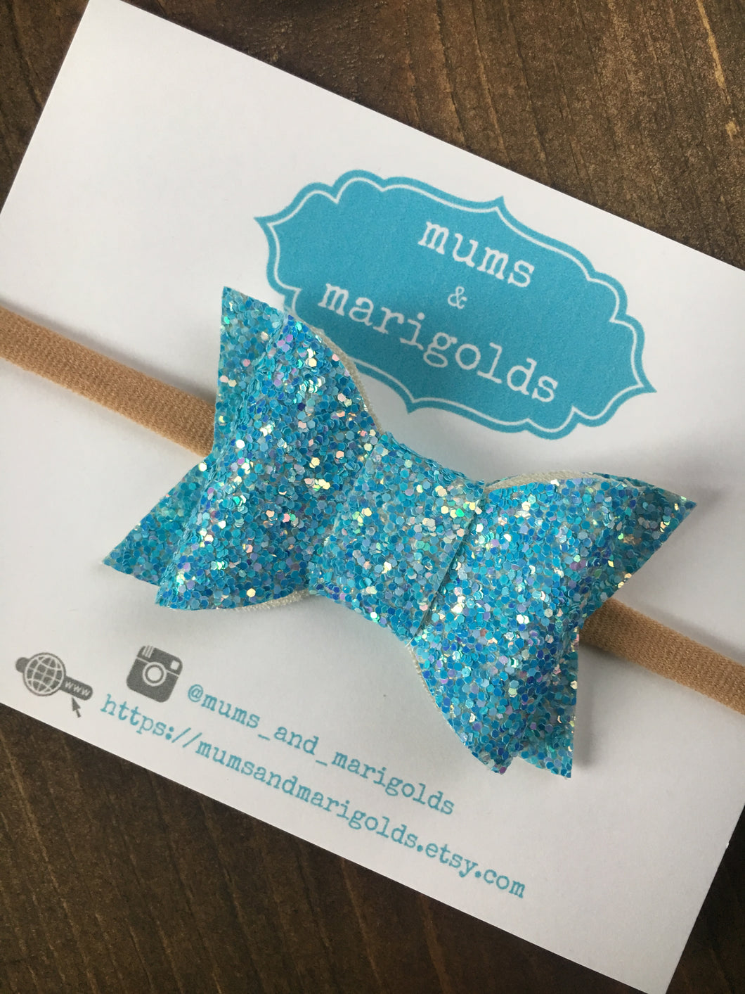 Elsa - Frozen inspired bow, icy blue glitter bow, icy blue glitter headband, baby shower gift, baby accessories