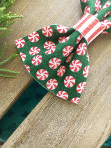 Peppermint twirls - Peppermint candy bow, Peppermint candy headband, Holiday bow, Christmas bow, Christmas headband, First Christmas