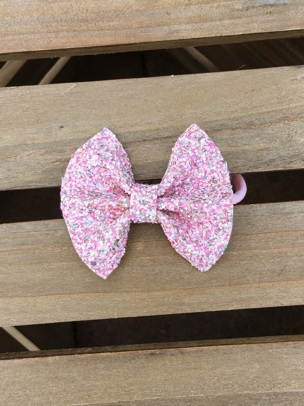 Amelia - pink glitter bow, pink bow, pink glitter headband, baby shower gift, baby girl shower gift, baby gift, baby accessories, toddler accessories