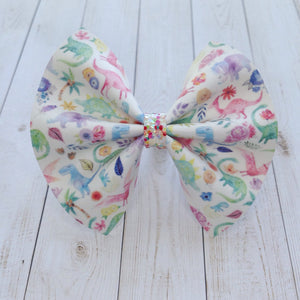 Dino-mite standard - dinosaur bow, Baby's first birthday, baby shower gift, toddler gift