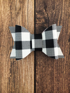 Cleo - White buffalo plaid