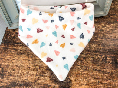 Bandy Bibs - Warm toned hearts