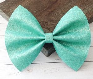 Kate - Tiffany blue iridescent glitter felt