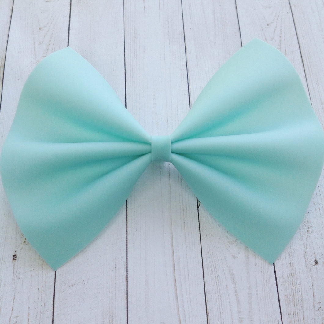 Aqua jelly XL - aqua jelly bow, baby's first summer, baby shower gift, toddler gift