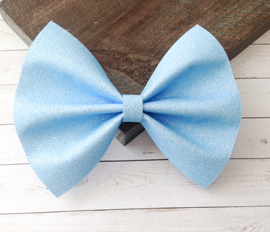 Kate - light sky blue iridescent glitter felt