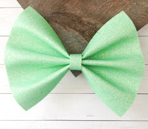 Kate - mint green iridescent glitter felt