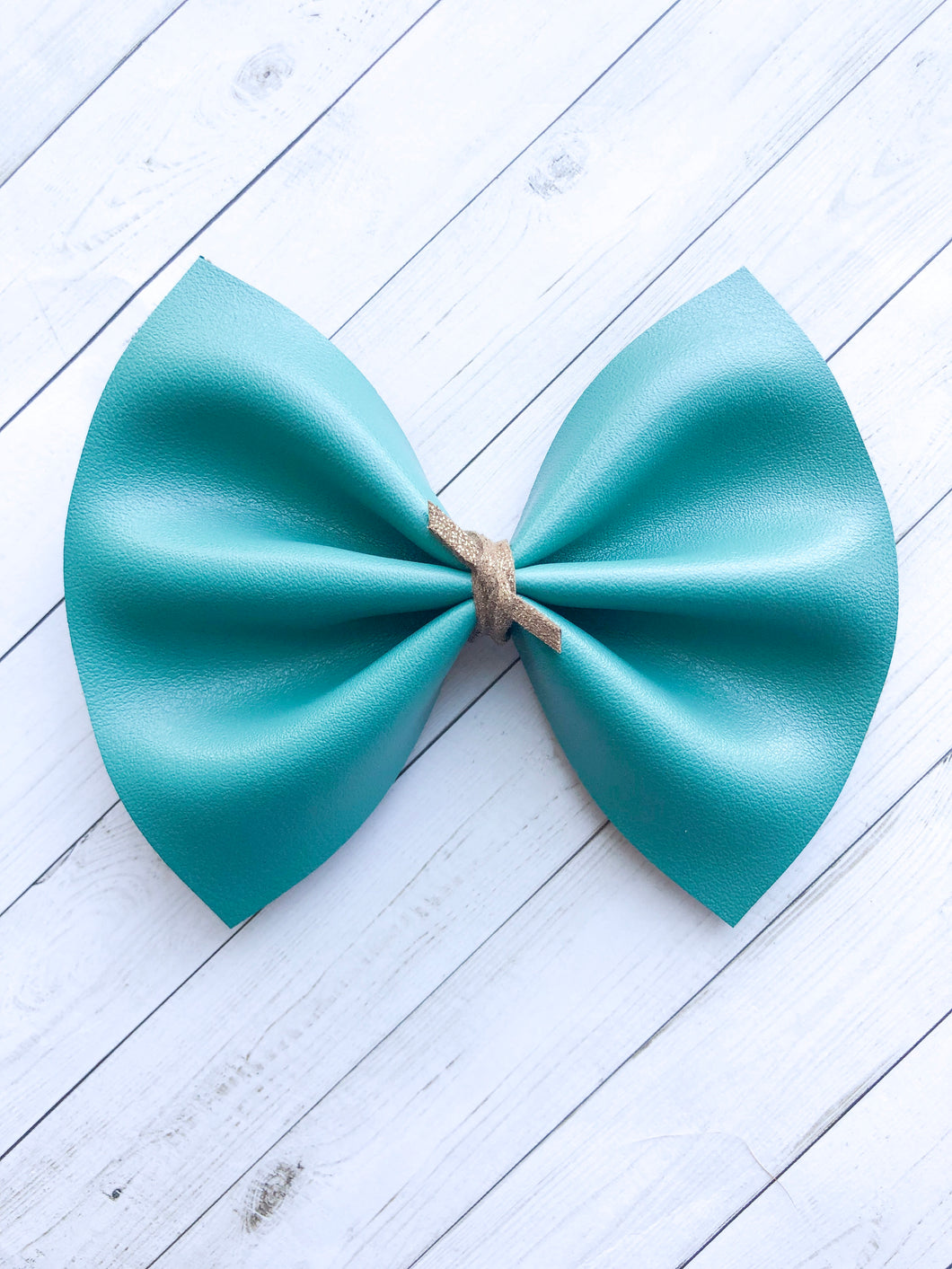 Kate - Solid teal with suede knot