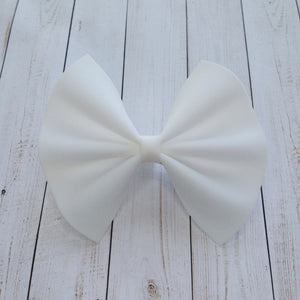 White jelly bow standard -baby's first birthday, baby gift, toddler gift, summer bow, lightweight bow