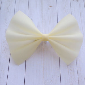 Yellow Jelly XL - pale yellow jelly bow, Baby's first birthday, baby shower gift, toddler gift