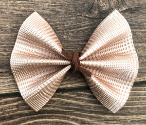 Ciera - Rose Gold Plaid Embossed