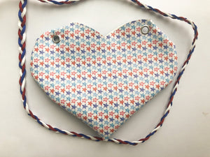 Patriotic Stars Heart Purse