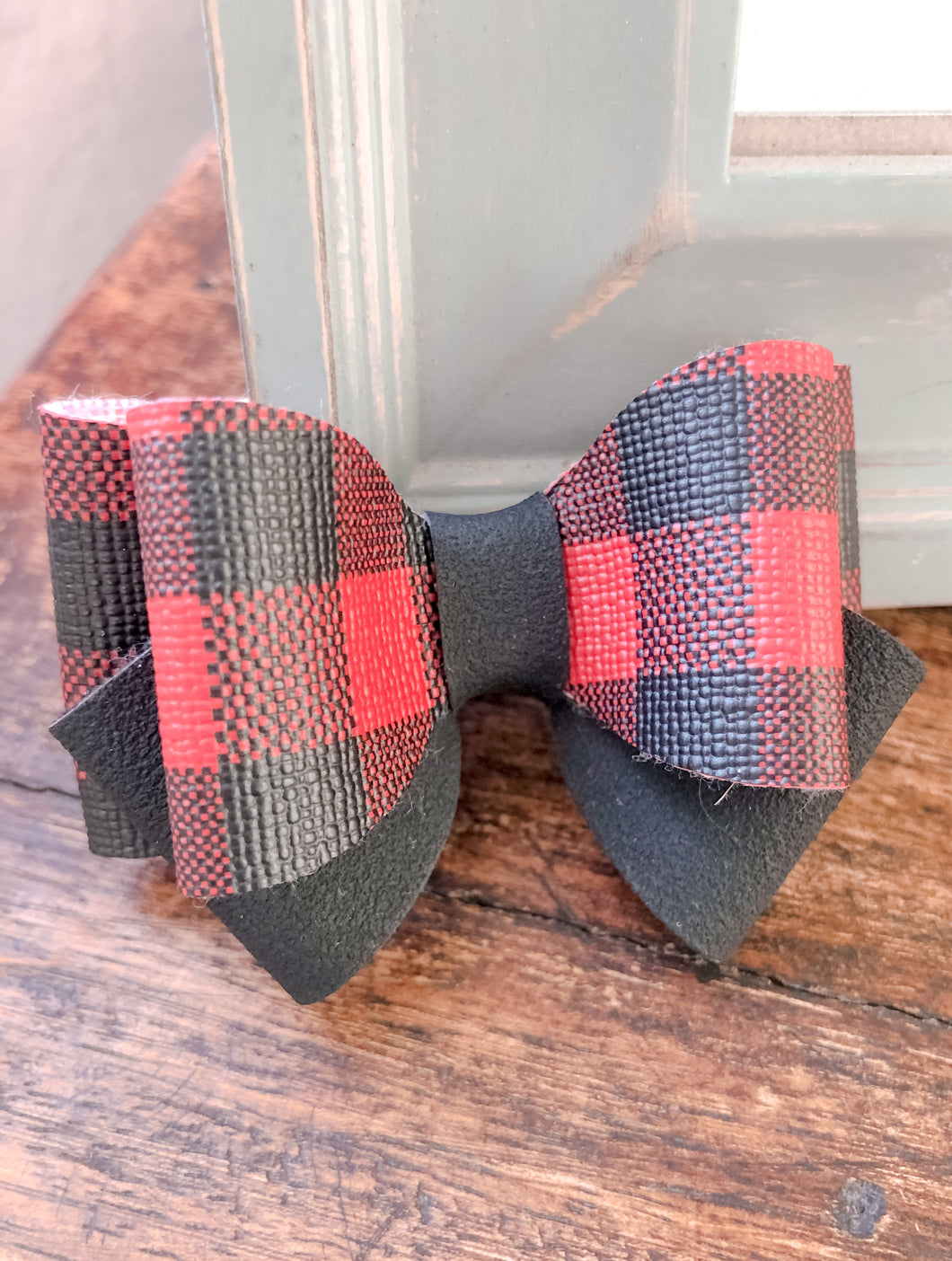 June - Red & Black Buffalo plaid