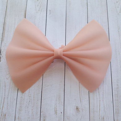 Apricot jelly XL - peach jelly bow, apricot jelly bow, large bow, baby shower gift, toddler gift
