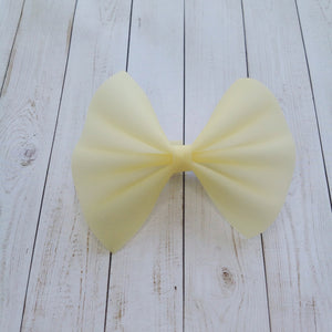 Yellow jelly bow - Baby's first birthday, baby shower gift, toddler gift