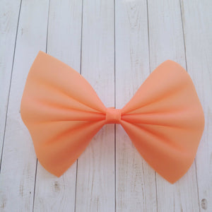 Orange Jelly XL - jelly bow, baby's first summer, baby shower gift, toddler gift