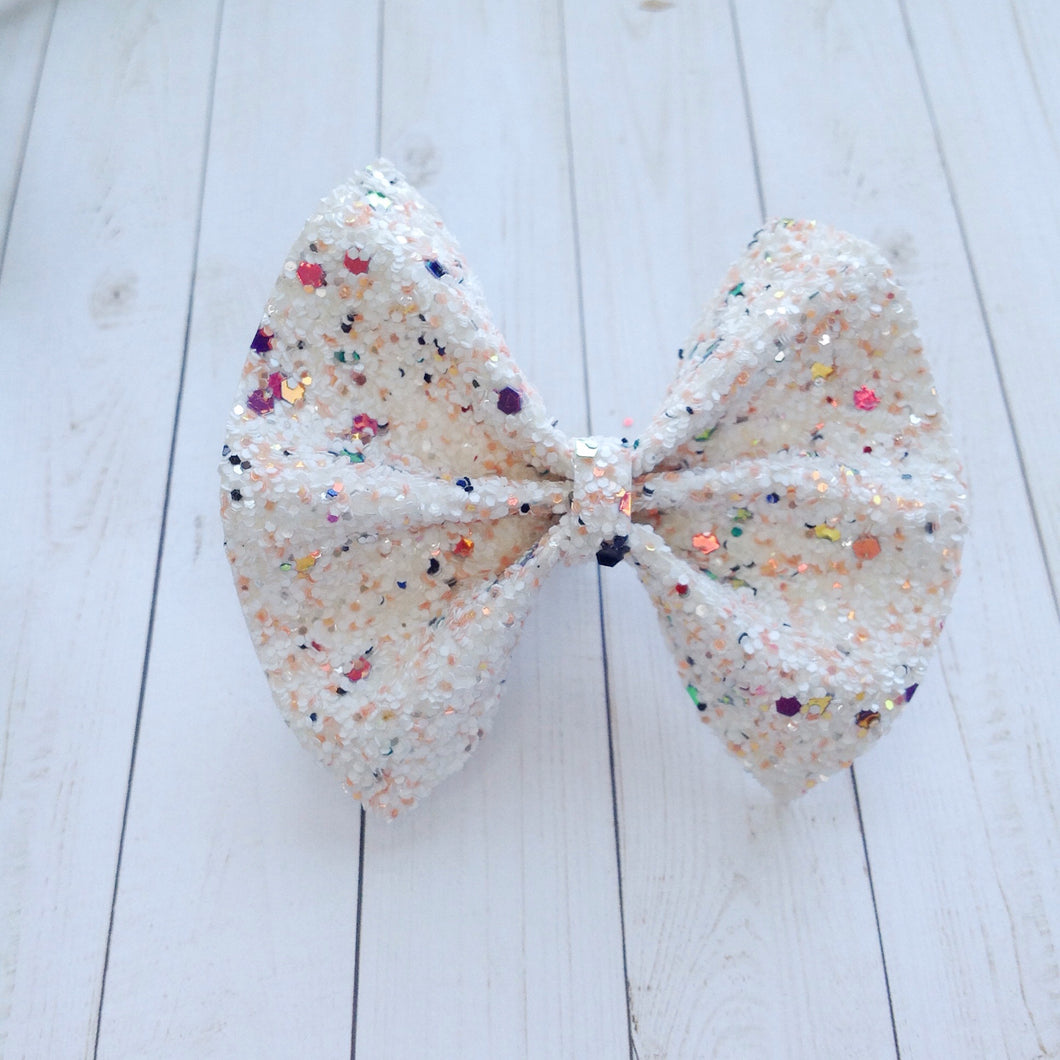 Ice Cream Shoppe glitter standard - Baby's first birthday, baby shower gift, toddler gift, glitter bow