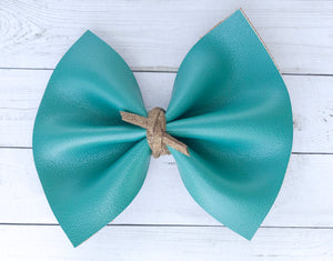 Ciera - Solid Teal with suede knot