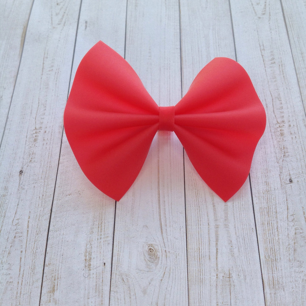 Red jelly standard - cherry red bow, Baby's first birthday, baby shower gift, toddler gifts