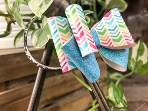 Mini June - Rainbow Chevron