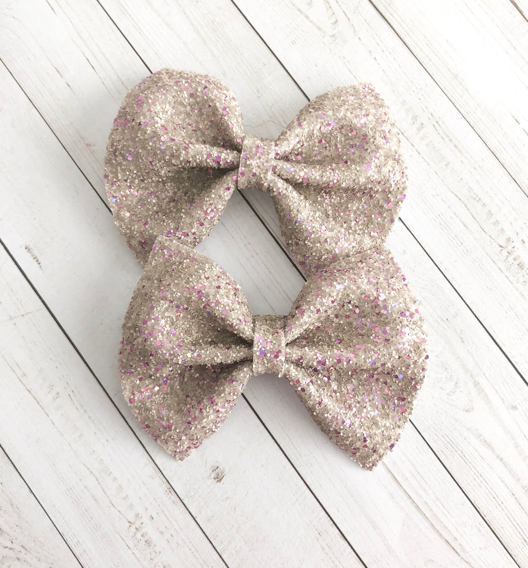 Piggy Set - Fine Greige with purple glitter