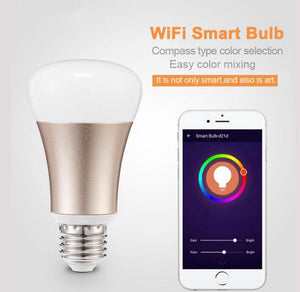 WIFI and IOS Android APP Controlled Smart LED Light Bulb 7W RGBW - BROS International Co., Limited BROSintl