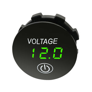 DC 12V Car LED Display Digital Voltmeter with ON OFF Button Switch - BROS International Co., Limited