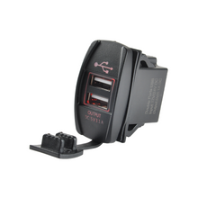 12V 3.1A Power Socket Rocker Switch Dual USB Charger Switch Mount for Boat Polaris Ranger RV Car - BROSintl® Group