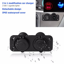 Dual USB Charger - Power Socket w/ LED Indicator on Panel for Car Boat Motorcycle - BROS International Co., Limited BROSintl