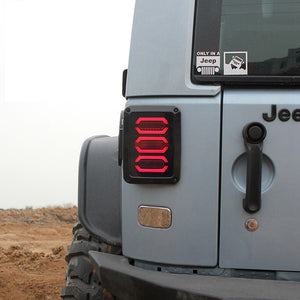 Jeep Wrangler LED Tail Light - Reverser Brake Turn Signal Light 2007-2016 - BROS International Co., Limited BROSintl