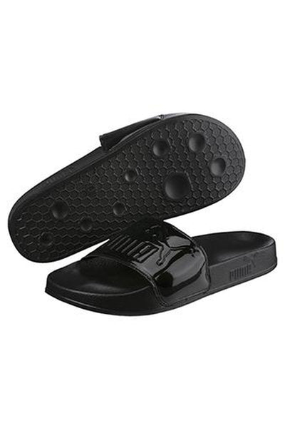 PUMA LEADCAT PATENT SLIDE WOMENS - BLACK