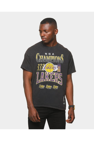 MITCHELL & NESS VINTAGE CHAMP SS TEE LAKERS BLACK