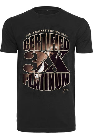 TUPAC ME AGAINST THE WORLD PLATINUM TEE MT1479 BLACK