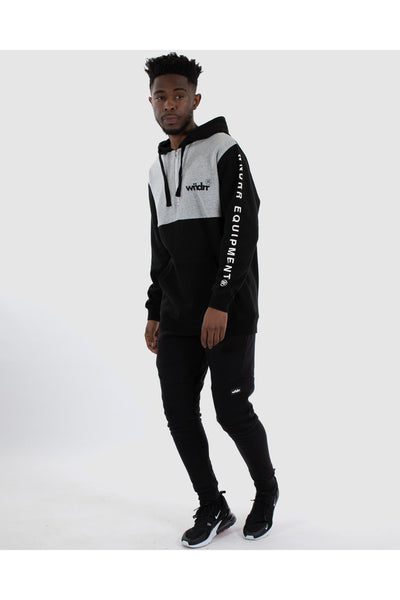 WNDRR ACCLAIMED HOOD SWEAT BLACK/GREY
