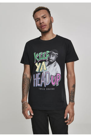 TUPAC KEEP YA HEAD UP TEE MT831 BLACK