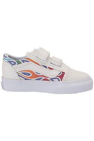 VANS TODDLER OLD SKOOL V (SPARKLE FLAME)