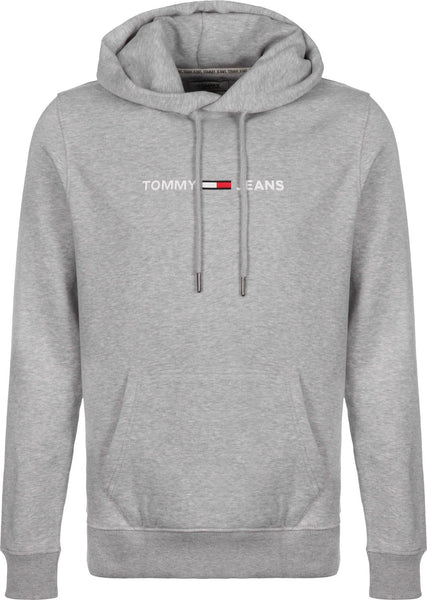 TOMMY SMALL LOGO HOODIE - GREY