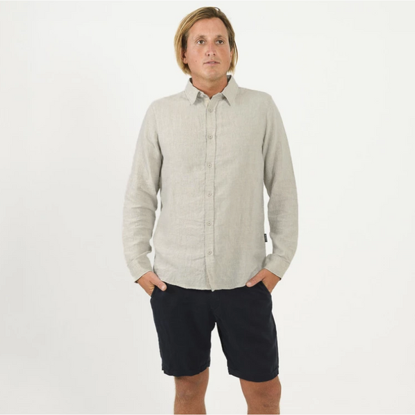 LINEN LS SHIRT - NATURAL