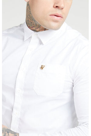 SIKSILK L/S SMART SHIRT - WHITE
