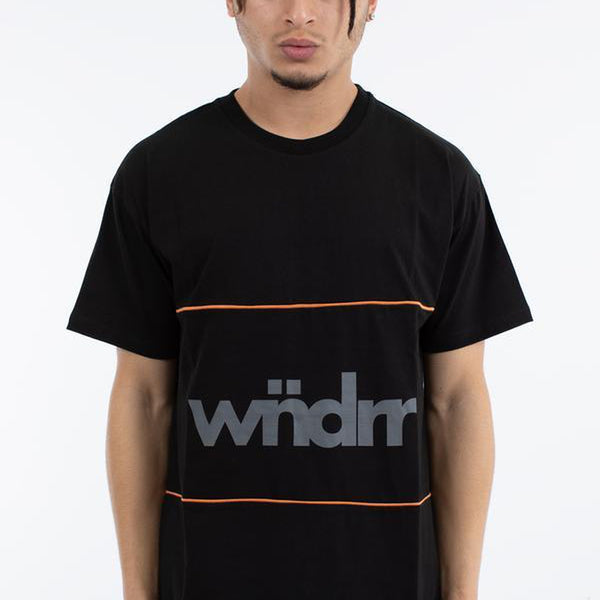 WNDRR FIRST TAKE 3 PANEL CUSTOM FIT TEE BLACK