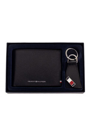 TOMMY HILFIGER BUSINESS CC AND COIN & KEY FOB BLACK