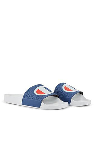 CHAMPION SLIDES - NAVY/WHITE