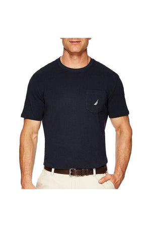 NAUTICA BIG & TALL ACTIVE STRETCH POCKET TEE NAVY