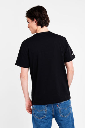 CHAMPION HERITAGE TEE WITH SCRIPT BLACK