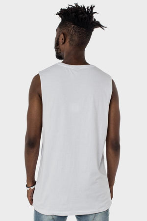 WNDRR DEFIANCE MUSCLE TOP - WHITE