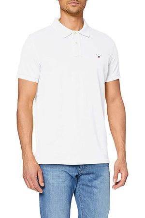 GANT SOLID PIQUE SS RUGGER - WHITE
